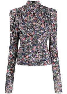 Isabel Marant ruched floral blouse