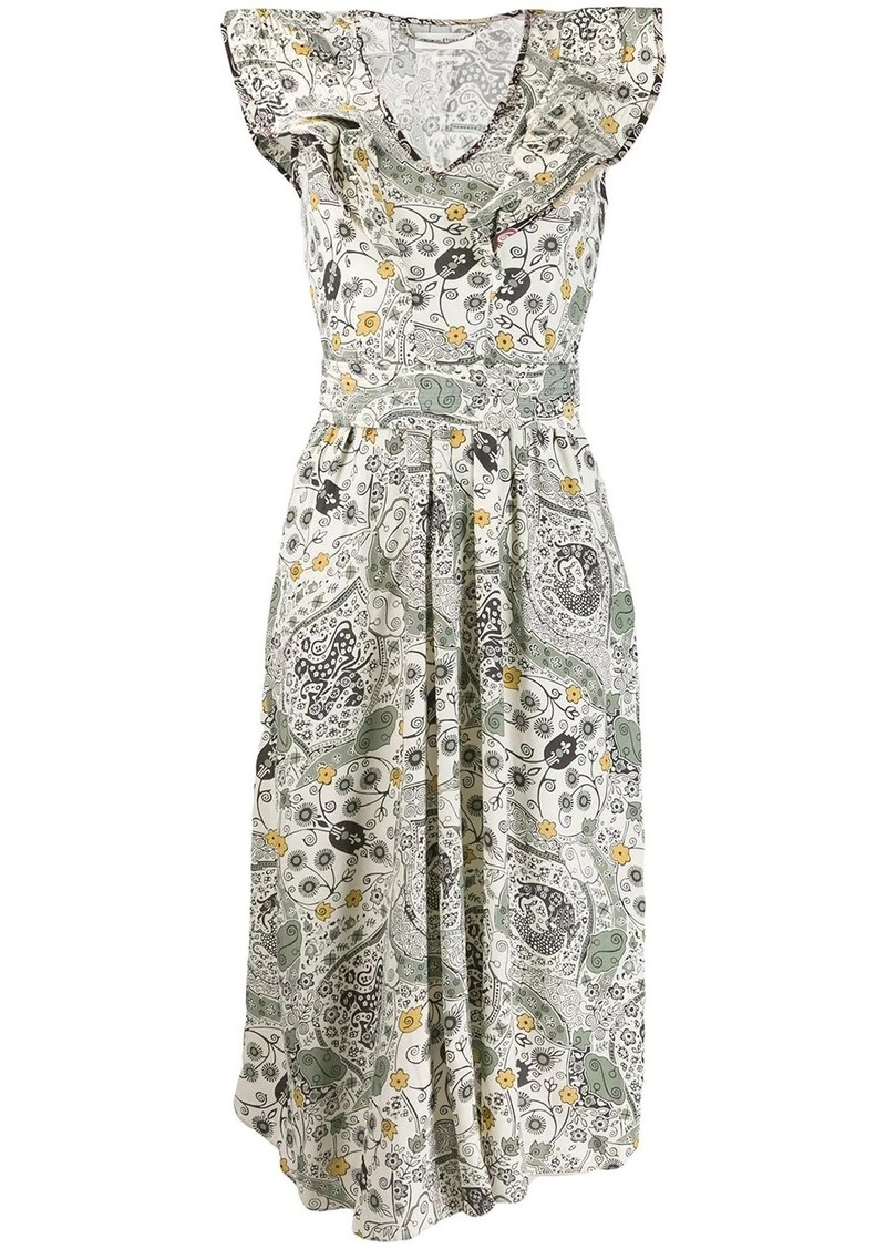 Isabel Marant ruffle trim Coraline dress