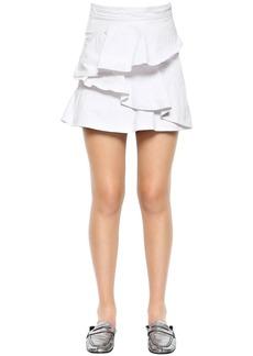 Isabel Marant Ruffled Cotton Denim Skirt