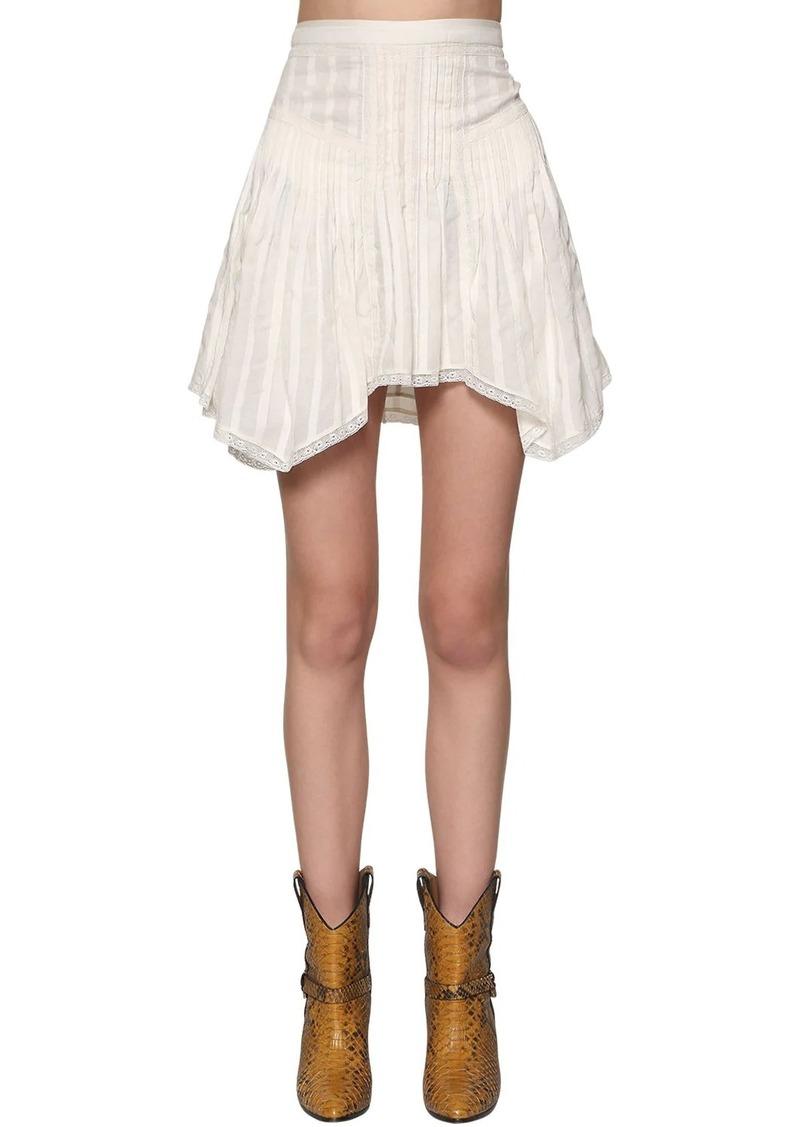 Isabel Marant Ruffled Cotton Mini Skirt