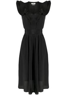 Isabel Marant ruffled neck midi dress