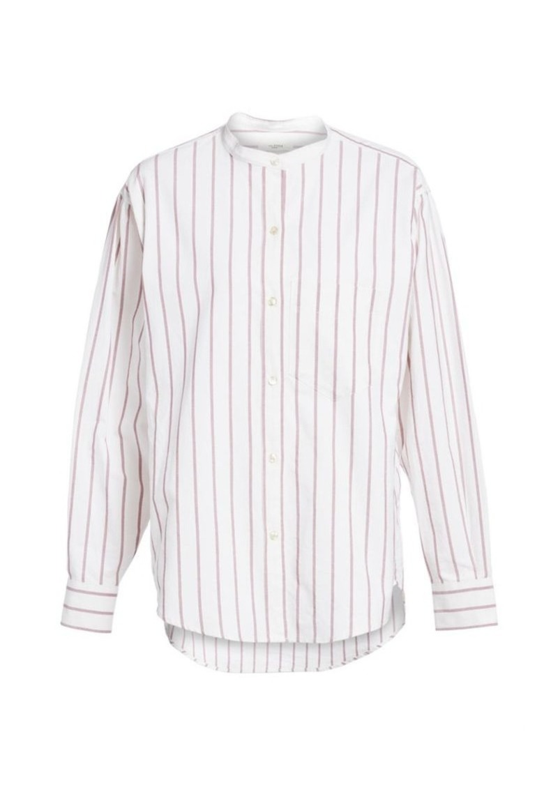 Isabel Marant Satchell Stripe Button-Down Shirt
