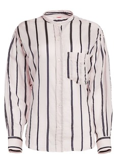 Isabel Marant Satchell Stripe Collarless Blouse