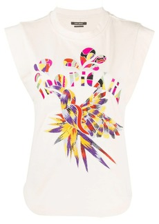 Isabel Marant Seleno graphic embroidery tank top
