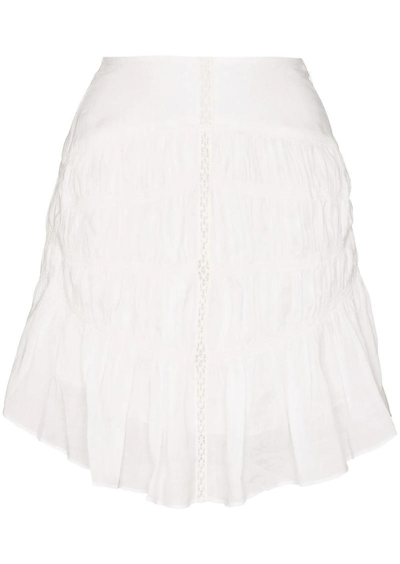 Isabel Marant Sidney lace ruffled hem skirt