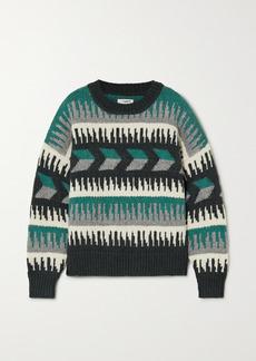 Isabel Marant Sienna Intarsia Wool-blend Sweater