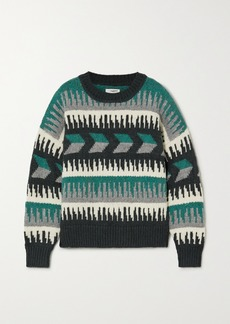 Isabel Marant Sienna Intarsia Wool-blend Sweater