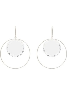 Isabel Marant silver-tone glass round hoop earrings
