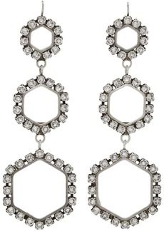 Isabel Marant Silver Triple Circle Drop Earrings