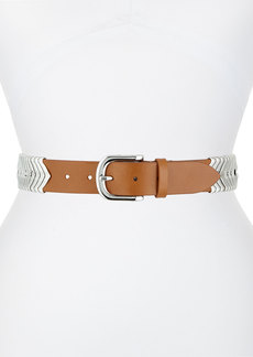 Isabel Marant Silvertone Leather Belt