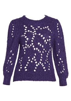 Isabel Marant Sineady Puff Sleeve Open Knit Pullover