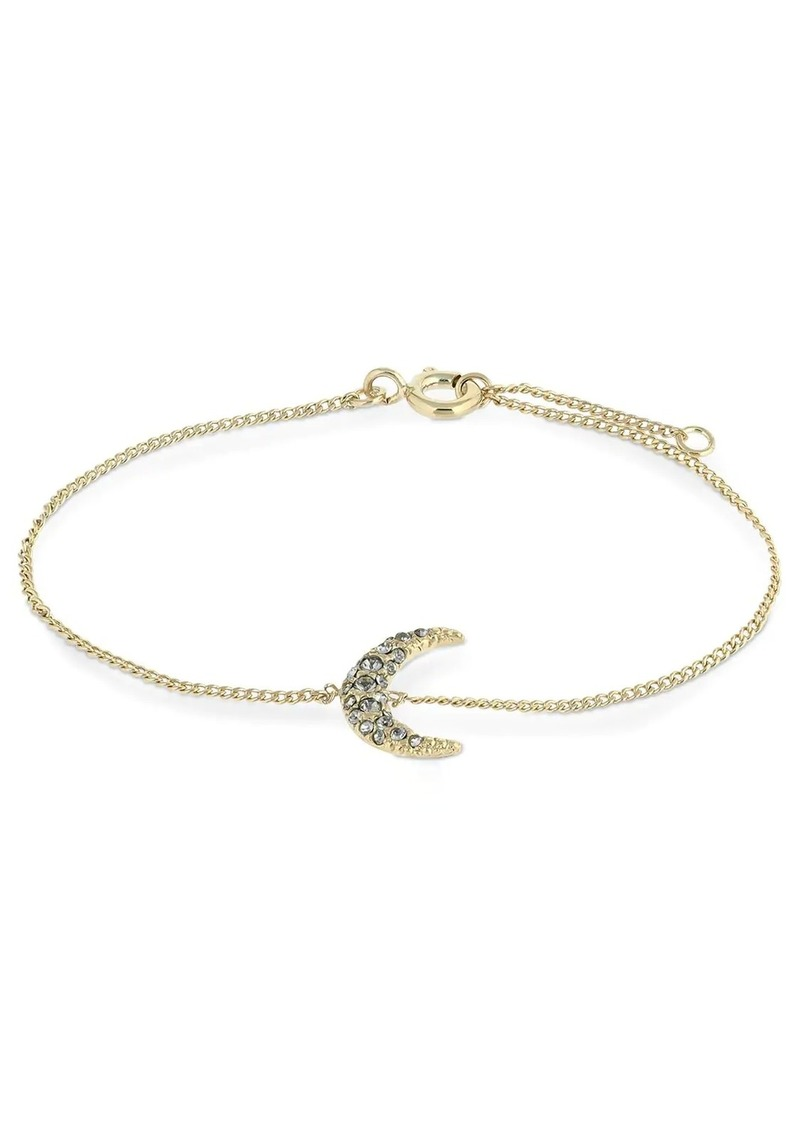 Isabel Marant Slim Full Moon Charm Crystal Bracelet