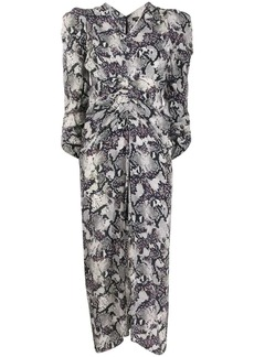 Isabel Marant snake-print midi dress