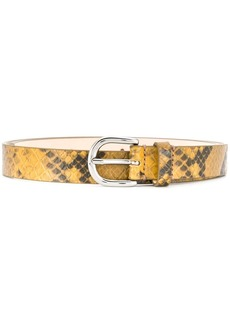 Isabel Marant snakeskin effect belt