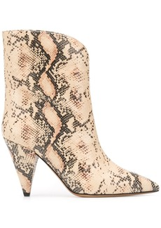 Isabel Marant snakeskin-effect cone-heel boots