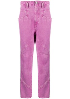 Isabel Marant stitch detail straight-leg trousers