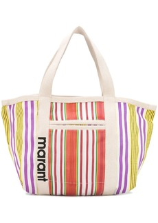 Isabel Marant striped canvas tote bag