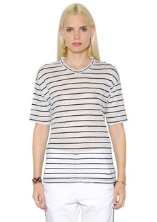 Isabel Marant Striped Cotton & Linen Blend T-shirt