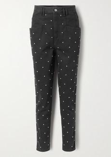 Isabel Marant Stud-embellished High-rise Tapered Jeans