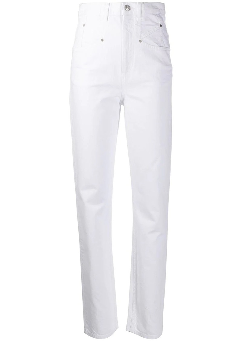 Isabel Marant super high-rise tapered jeans