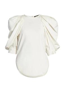 Isabel Marant Surya Gathered Puff-Sleeve Top