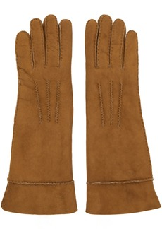 Isabel Marant Tan Shearling Gloves