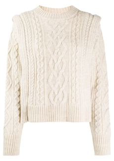 Isabel Marant Tayle cable-knit jumper