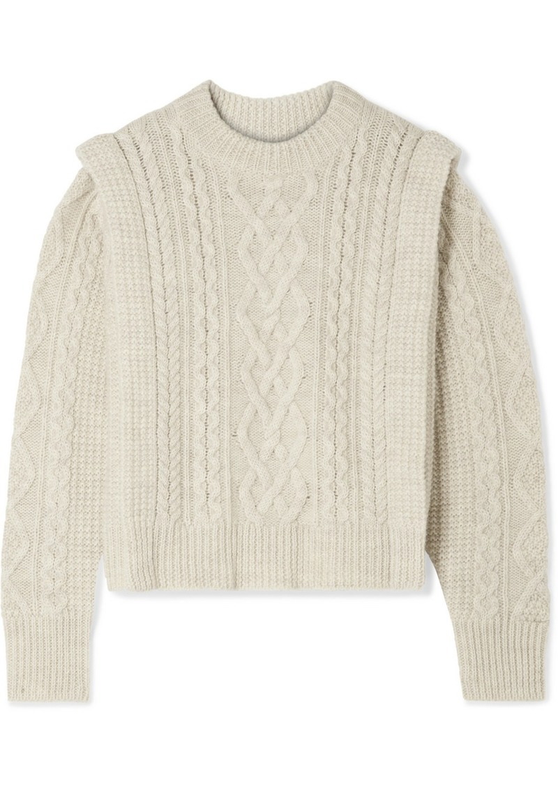 Isabel Marant Tayle Cable-knit Wool Sweater