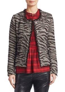 Isabel Marant Lycia Zebra Cropped Snap Jacket