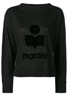 Isabel Marant tone on tone logo jumper