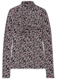 Isabel Marant Truey Floral-print Stretch-jersey Turtleneck Top