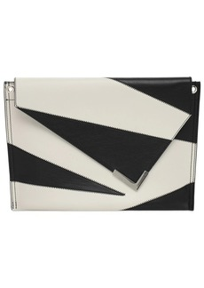 Isabel Marant Tryne Leather Patch Clutch Bag