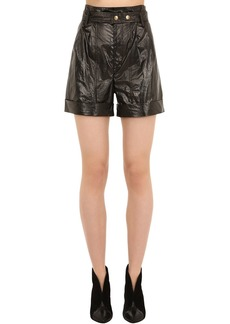 Isabel Marant Tweni Metallic Cotton Shorts