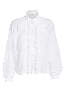 Isabel Marant Valda Romantic Lace Eyelet Shirt