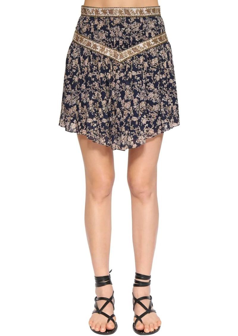 Isabel Marant Valerie Printed Cotton Mini Skirt