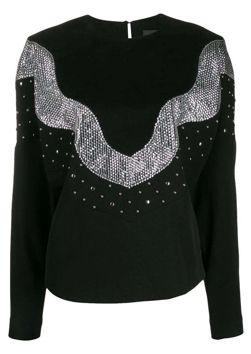 Isabel Marant Valia sequin embellished sweatshirt