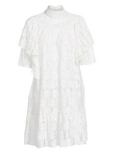 Isabel Marant Venus Ruffled Lace Shift Dress