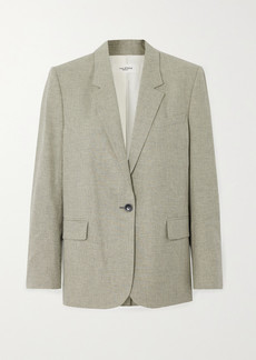 Isabel Marant Verix Checked Cotton And Linen-blend Blazer