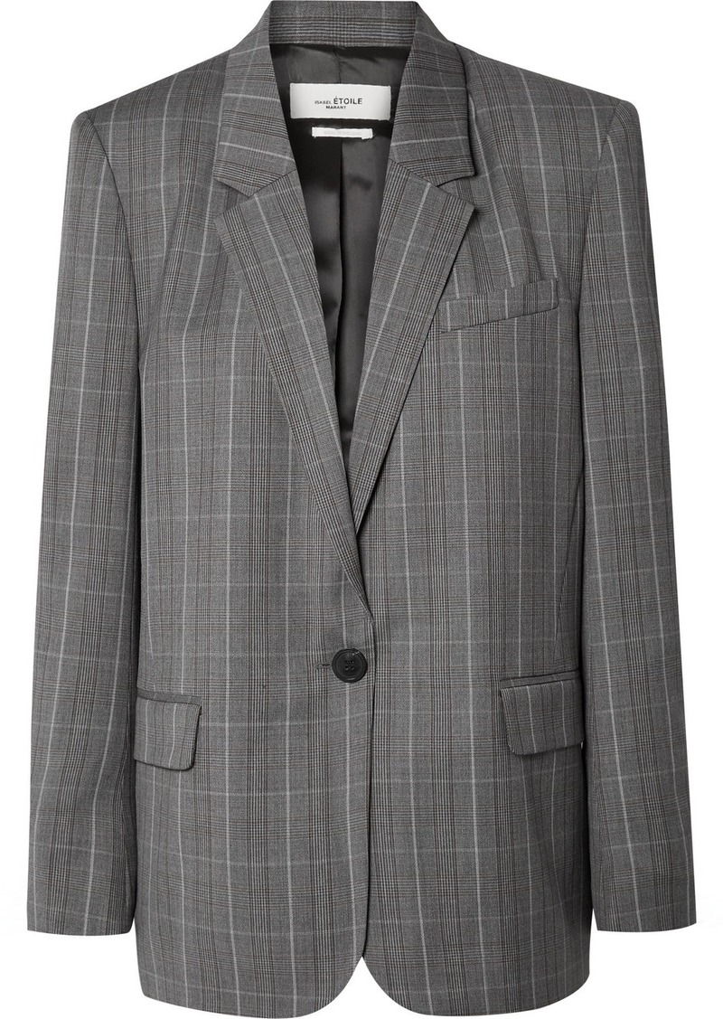 Isabel Marant Verix Prince Of Wales Checked Wool Blazer
