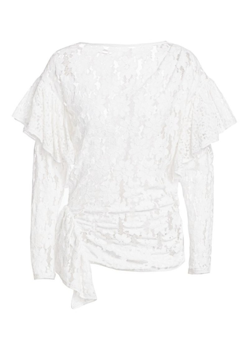 Isabel Marant Vinny Sheer Lace Top