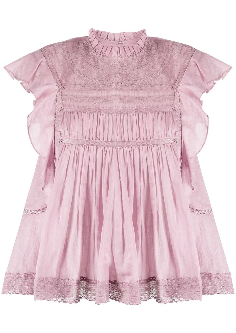 Isabel Marant Vivia lace-trimmed sleeveless blouse