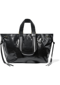 Isabel Marant Wardy Glossed-leather Tote