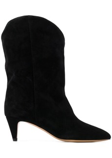 81ab0623574 Isabel Marant Dawyna Point-Toe Stud-Heel Western Bootie | Shoes
