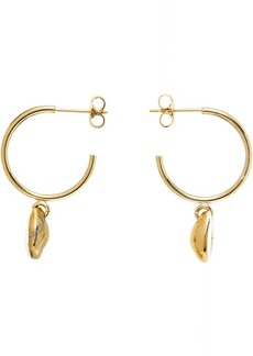 Isabel Marant White & Gold New Amer Earrings