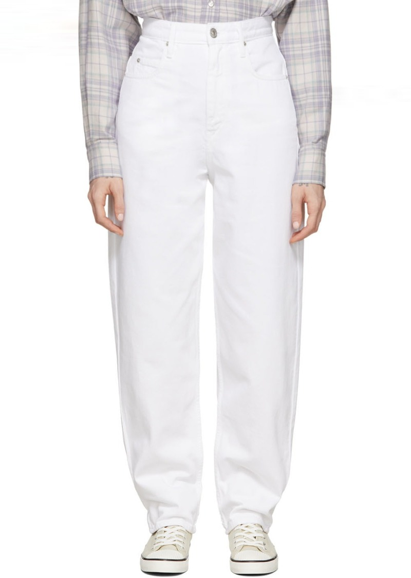 Isabel Marant White Corsy Jeans