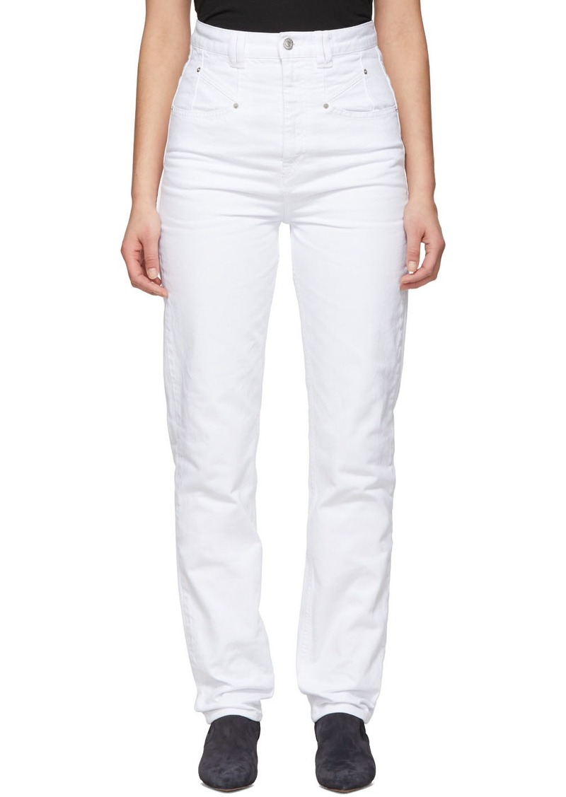 Isabel Marant White Dominic Jeans