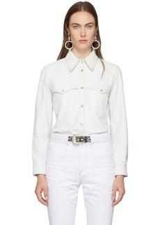 Isabel Marant White Leather Nile Shirt