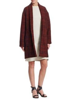 Isabel Marant Eabrie Wool-Blend Plaid jacket