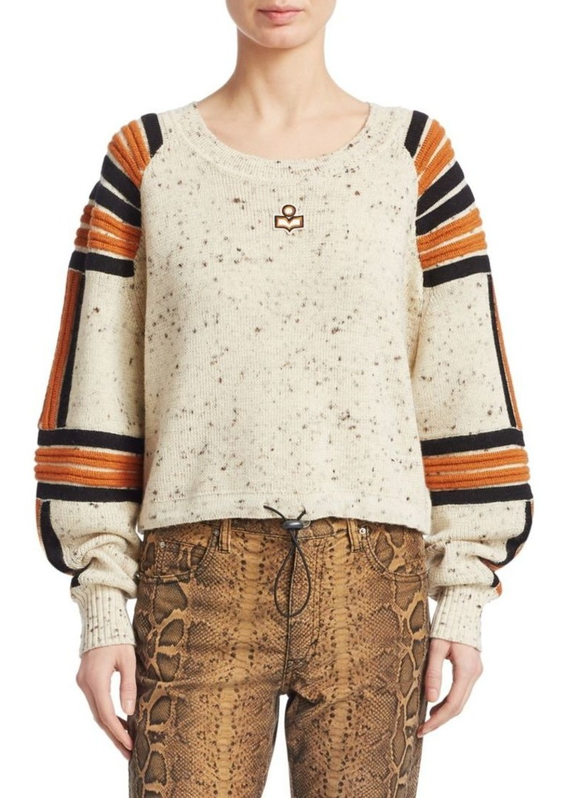 Isabel Marant Wool Ribbed Detail Sweater