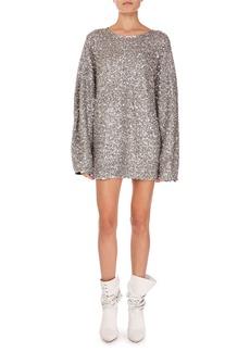 Isabel Marant Xana Long-Sleeve Sequin Mini Dress